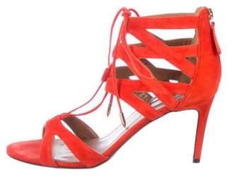 Aquazzura Suede Caged Sandals Suede Caged Sandals