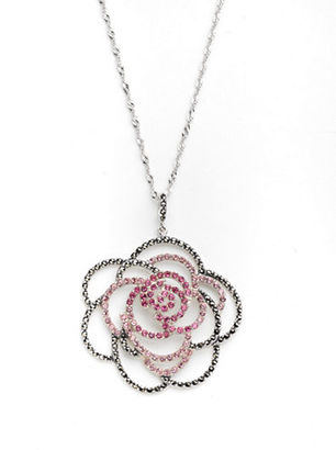 Lord & Taylor Pave Flower Pendant Necklace $223.98 thestylecure.com