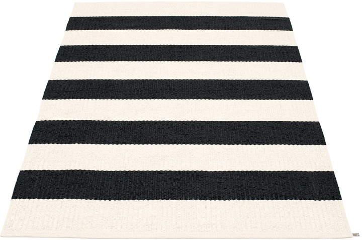 Pappelina - Bob Teppich, 140 x 220 cm, black / vanilla