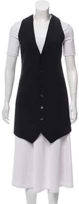 CNC Costume National Longline Button-Up Vest