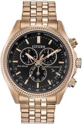 Citizen Eco-Drive Men Chronograph Brycen Gold-Tone Stainless Steel Bracelet Watch 44mm