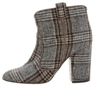 Laurence Dacade Woven Ankle Boots $175 thestylecure.com