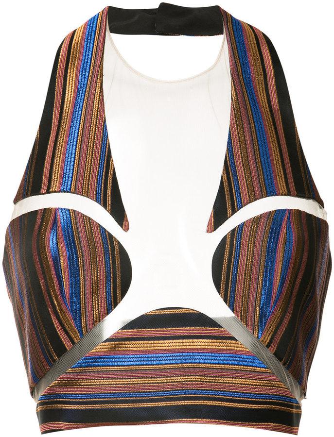 BalmainBalmain striped bralette