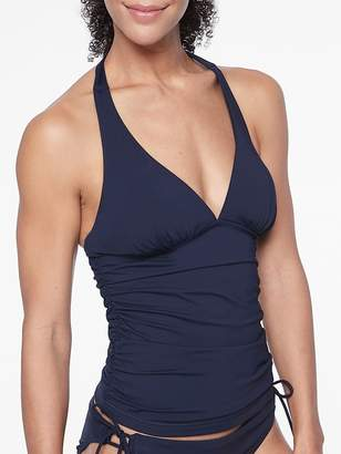 Athleta Shirred Halter Tankini