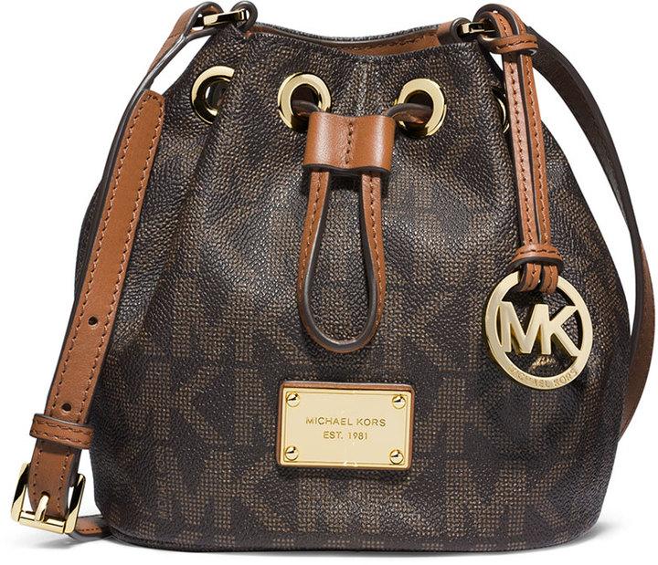 MICHAEL Michael Kors Jules Logo Drawstring Crossbody Bag, Brown