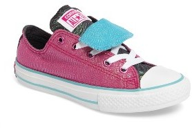 Girl's Converse Chuck Taylor All Star Double Tongue Sneaker $39.95 thestylecure.com