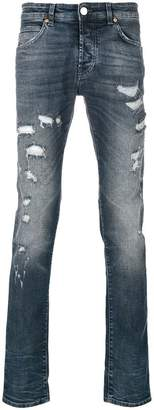 Pierre Balmain distressed slim-fit jeans