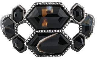 Alexis Bittar Agate Pavo Mirrored Hinged Bangle