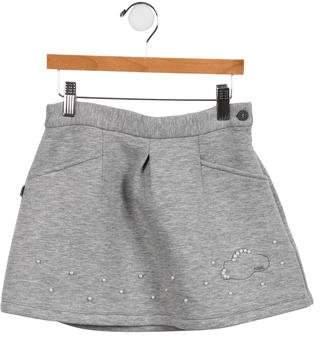 Karl Lagerfeld Girls' Embellished A-Line Skirt