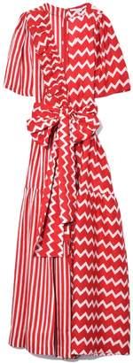 Stella McCartney Gabrielle Dress in Bone/Lover Red