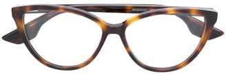 McQ Eyewear havana cat eye glasses