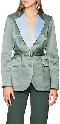 Sies Marjan Women's Terry Jacquard Belted Blazer