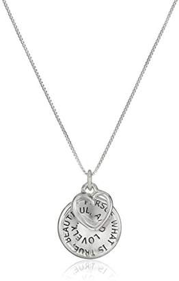 Sterling Pursue What Is True... Happiness Will Soon Follow Reversible Charm Pendant Necklace