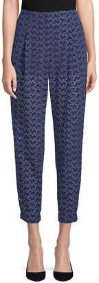 Akris Women's Cropped Eyelet Pants