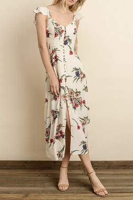 dress forum Floral Button-Down Midi