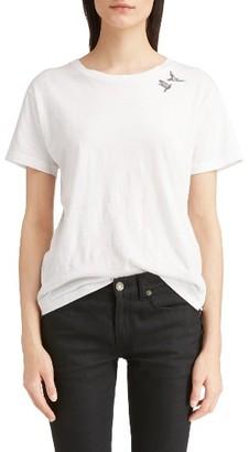Women's Saint Laurent S & L Logo Print Tee $350 thestylecure.com