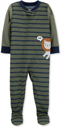 Carter's Carter Baby Boys Striped Footed Lion Pajamas