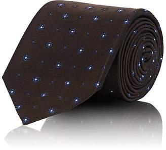 Uman Men's Floral-Print Silk Necktie