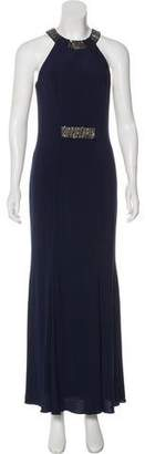 Carmen Marc Valvo Embellished Maxi Dress