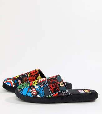 Asos Fizz Creations Fizz Marvel print slippers Exclusive at
