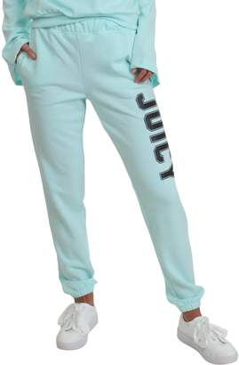 Juicy Couture Womens French Terry Logo Sweatpants Blue S
