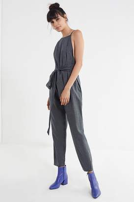 Six Crisp Days Kalymnos High-Neck Plaid Jumpsuit