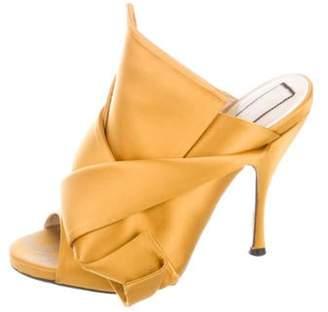 PeepToe NÂo 21 Satin Peep-Toe Sandals NÂo 21 Satin Peep-Toe Sandals