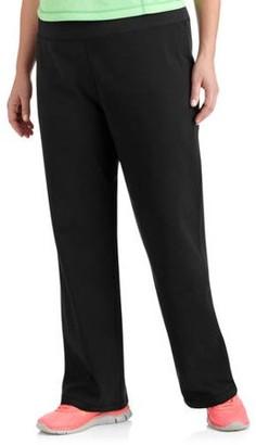 Danskin Women's Plus Size Dri More Core Bootcut Workout Pants