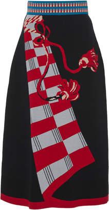 Temperley London Courtesan Jacquard Knit Midi Skirt