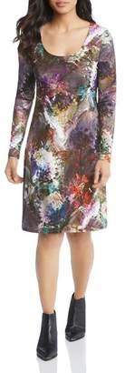 Karen Kane Abstract Floral-Print Dress