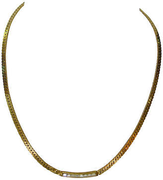 One Kings Lane Vintage Givenchy Gold-Plated Crystal Necklace - Wisteria Antiques Etca