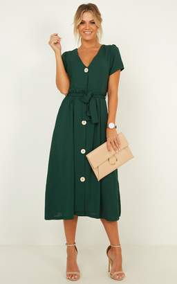 Showpo Research breakthrough Dress in emerald - 6 (XS) Dresses