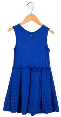 Lili Gaufrette Girls' Sleeveless Eyelet Dress