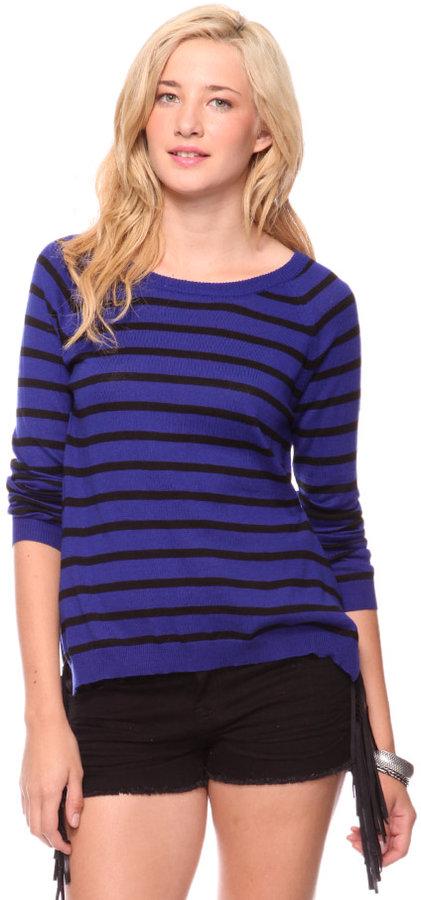 Style deals Striped Raglan Sweater