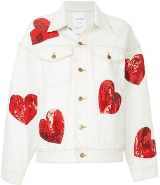 Ashish sequin hearts denim jacket