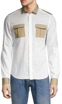 Valentino Long-Sleeve Button-Down Shirt