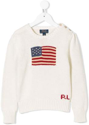 Ralph Lauren Kids jacquard logo knit sweater
