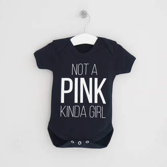 My 1st Years Not A Pink Kinda Girl Slogan Bodysuit