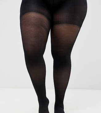 Asos DESIGN Curve 60 denier tights with bum tum and thigh support