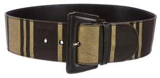 Paloma Picasso Striped Wide Belt