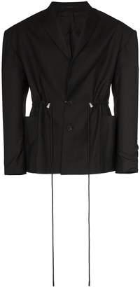 drawcord waist blazer
