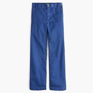 J.Crew Full-length wide-leg chino pant