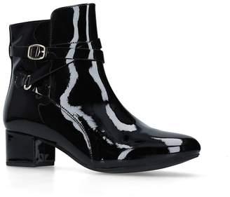 5306312be8f at Debenhams · Carvela Comfort - Black  Renee  Patent Low Heel Ankle Boots