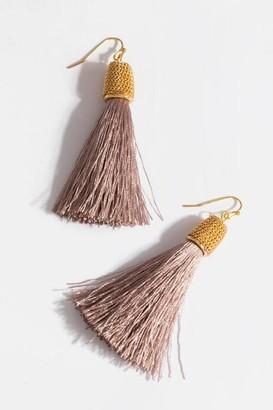 francesca's Marcella Tassel Earrings In Mauve - Mauve