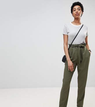 Asos Tall DESIGN Tall woven peg trousers with obi tie