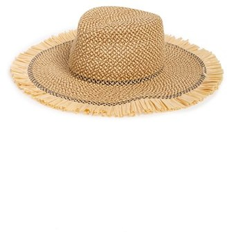 Women's Eric Javits 'Havana' Packable Squishee Straw Hat - Beige