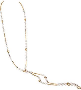 One Kings Lane Vintage Chanel Pearl & Crystal Necklace - Vintage Lux