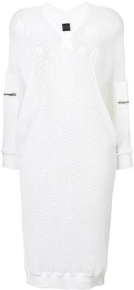 Jean Paul Gaultier Pre-Owned sporty mesh midi dress