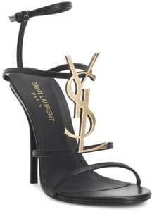 Saint Laurent Cassandra Ankle-Strap Sandals