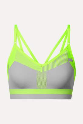 Nike Indy Neon Flyknit Sports Bra - Light gray